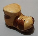 Shoe Salt Shaker 2 Tone Brown