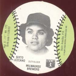 Baseball Burger Chef Card Lezcano