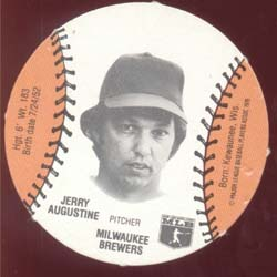 Baseball Burger Chef Card  Augustine