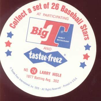 Baseball Ice cream Cup Card Hisle