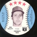 Baseball Ice cream Cup Cap Card Don Gullett