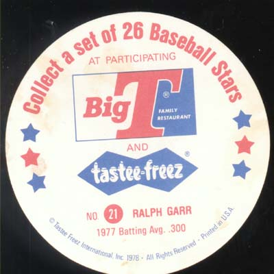 Baseball Ice cream Cup Cap Card Garr