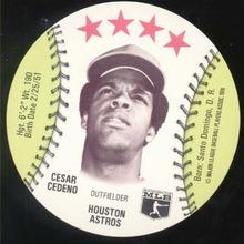 Baseball Ice cream Cup Cap Card Cedeno