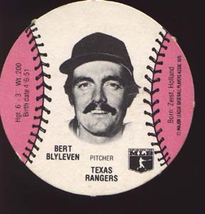 Burger Chef Baseball Card Blyleven