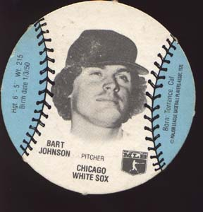 Burger Chef Baseball Card Johnson