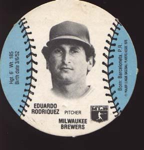 Burger Chef Baseball Card Rodriquez