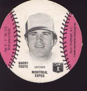 Burger Chef Baseball Card Foote