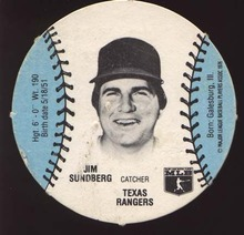 Burger Chef Round Baseball Card Sundberg