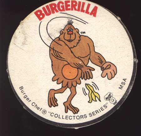 Burger Chef Round Baseball Card Sundberg