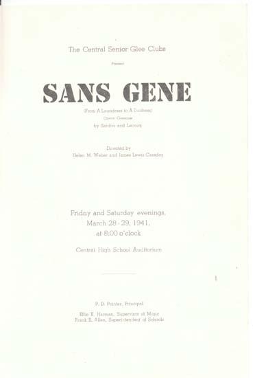 Sans Gene opera by Central Senior Glee Club