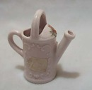 Germany Pink Porcelain Watering Can Figurine