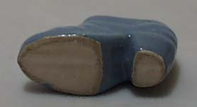 Shoe-small ceramic light blue shoe