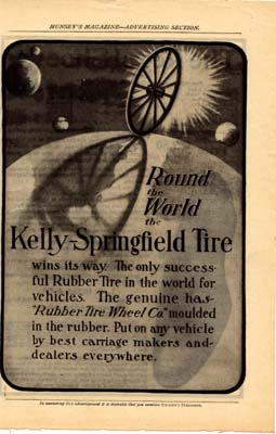 Kelly-Springfield Tire Ad  Early 1900s