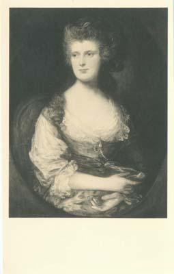 Mrs. Fane by Gainsborough, Postcard