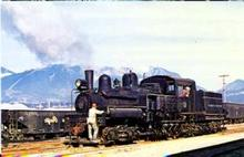 RR Train Pacific Coast #115 at Vancouver postcard