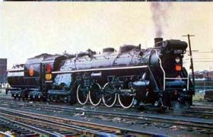 RR Train Canadian National #6153 in Montreal postcard Steam Locomotive