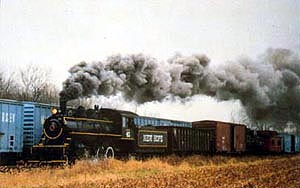 New Hope Steam #40 RR Train postcard
