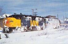 Ocean Limited #6788 RR train postcard