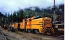 Canadian Forest Products #4804 train postcard