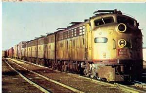 Rock Island&Pacific RR Train postcard