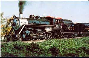 Southern #630 RR Train Postcard