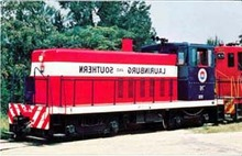 Laurinburg&Southern 76 RR Train Postcard