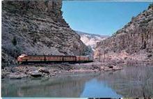 Denver & Rio Grande Western RR Train postcard