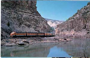 Denver & Rio Grande Western RR Train postcard