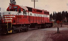 Train PC McCloud River Railroad Unit # 38