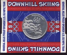 General Foods1998 Olympic Downhill Ski Token