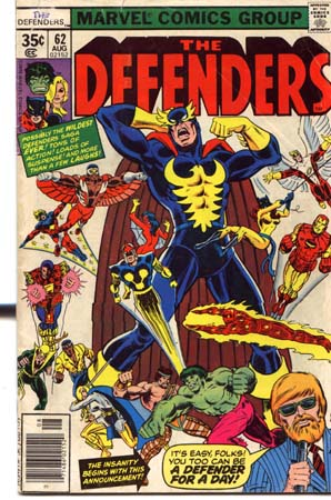 Marvel Defenders comic book,Aug 02152,1968