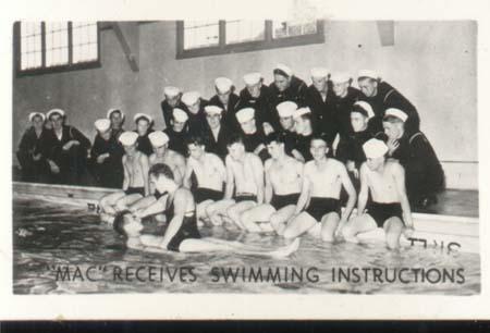 WWII Navy Mini Photo Mac Swim Instructions