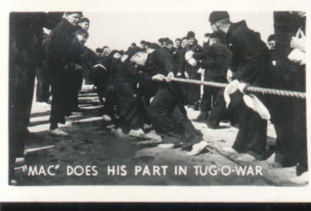 WWII Navy Mini Photo Mac Does Share Tug oWar