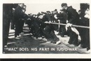 WWII Navy Mini Photo Mac Does Share Tug oWar
