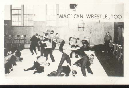 WWII Navy Mini Photo Mac Can Wrestle 1943