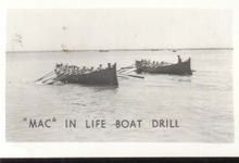 WWII Navy Mini Photo Mac Life Boat Drill 1943