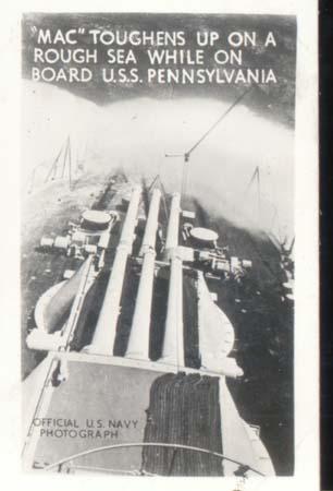 WWII Navy Mini Photo Mac Toughens Up On Seas