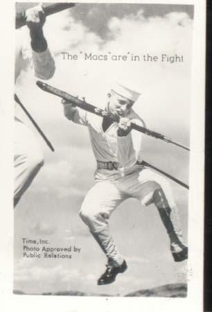 WWII Navy Mini Photo Mac In The Fight