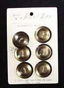 Buttons - brown 3/4