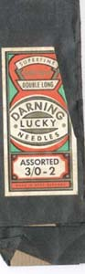 Darning lucky needles assorted.