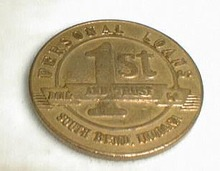 First Source Bank, South Bend, IN adv coin