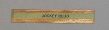 Victorian Label Reads Jockey Club