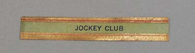 Victorian Label Reads Jockey Club