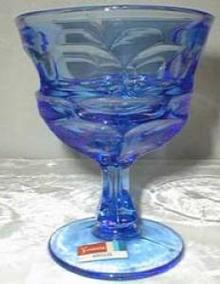 Fostoria Argus Henry Ford Water Goblet , Blue