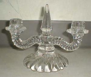 Fostoria Colony Double Candleholder, Crystal