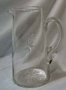 Fostoria Star Cut star Pitcher One
