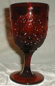 L.E. Smith Cherry Water Goblet in Red