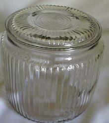 Depression Cookie Jar in Crystal