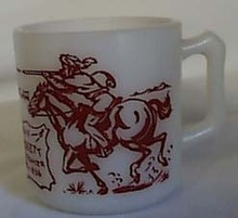Hazel Atlas Davy Crocket Indian Mug