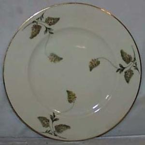 Bavaria Ivory Dinner plate with handpainted red/green flower